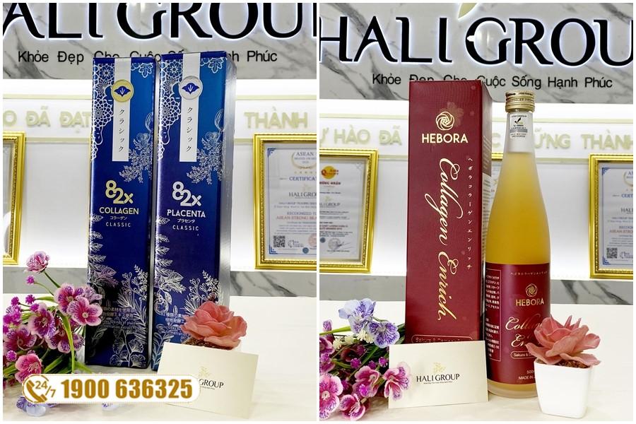 Nên chọn nước uống Hebora Collagen Enrich hay nước uống Collagen 82X Nhật Bản